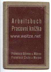 III. Reich - Protektorat Böhmen und Mähren - Arbeitsbuch für einen Mann des Jahrgangs 1923