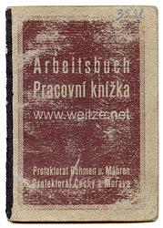 III. Reich - Protektorat Böhmen und Mähren - Arbeitsbuch für einen Mann des Jahrgangs 1898