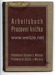 III. Reich - Protektorat Böhmen und Mähren - Arbeitsbuch für eine Frau des Jahrgangs 1921