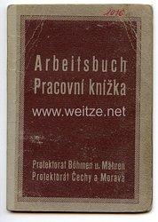 III. Reich - Protektorat Böhmen und Mähren - Arbeitsbuch für einen Mann des Jahrgangs 1909