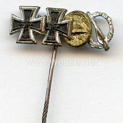 Miniaturspange 1957 eines Veteranen des 2. Weltkriegs - 4 Auszeichnungen