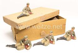 Elastolin - Heer Soldat mit Schiffchen links liegend  - 12 Stück in der originalen Verpackung