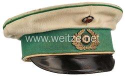 Preußen Vorläufige Reichswehr Schirmmütze für Offiziere im Kürassier-Regiment Graf Geßler (Rheinisches) Nr. 8