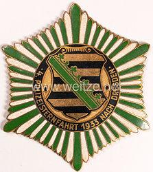 """Polizei III. Reich: große Teilnehmerplakette """"4. Polizeisternfahrt 1933 nach Dresden"""""""