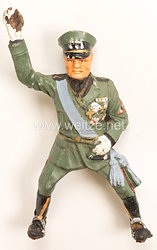 Elastolin - Der Duce Mussolini als Reiter zu Pferd grüßend