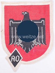 NS Reichsbund für Leibesübungen/Auslandsorganisation NSRL/AO großes Emblem für den Sportanzug
