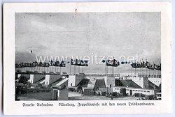 """III. Reich - Propaganda-Postkarte - """" Reichsparteitag Nürnberg - Zeppelinwiese mit den neuen Tribünenbauten ( neueste Aufnahme ) """""""