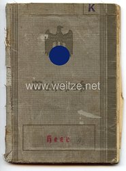 Wehrpaß für einen späteren Gefreiten der Stabsbattr./4./Sturmgeschütz-Brigade 311