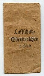 Luftschutz-Ehrenzeichen 2. Stufe - Verleihungstüte