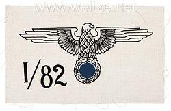 Allgemeine-SS Spiegel Rohling für die Sturmbannfahne I SS-Standarte 82