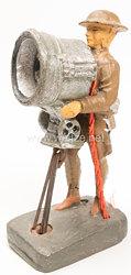Elastolin - England Soldat mit elektrischem Blinkgerät