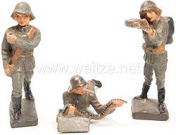 Lineol - Dänemark 3 Soldaten mit Stahlhelm