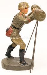 Elastolin - Heer Soldat am großem Entfernungsmesser