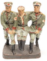 Elastolin - Heer 2 Sanitäter einen Verwundeten tragend