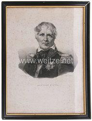 "Frankreich Lithographie Porträt des Marschalls ""Gouvion St. Cyr"""