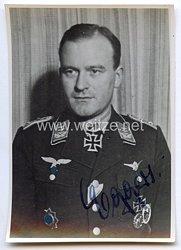 Luftwaffe - Originalunterschrift von Ritterkreuzträger Hauptmann Hermann Eggers