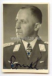 Luftwaffe - Originalunterschrift von Ritterkreuzträger Generalmajor Dipl.-Ing. Gerhard Conrad