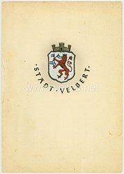 Heer - Ehrenbrief der Stadt Velbert als Anerkennung zur Verleihung des Eisernen Kreuzes an einen Leutnant