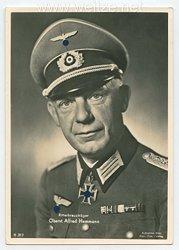 Heer - Portraitpostkarte von Ritterkreuzträger Oberst Alfred Hemmann