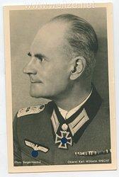 Heer - Portraitpostkarte von Ritterkreuzträger Oberst Karl Wilhelm Specht
