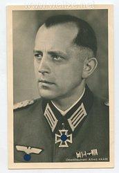 Heer - Portraitpostkarte von Ritterkreuzträger Oberstleutnant Alfred Haase