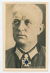Heer - Portraitpostkarte von Ritterkreuzträger Oberstleutnant Walter Gorn