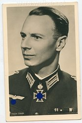 Heer - Portraitpostkarte von Ritterkreuzträger Major Zahn