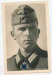 Heer - Portraitpostkarte von Ritterkreuzträger Hauptmann Willi Riedel