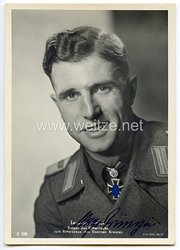 Heer - Originalunterschrift von Ritterkreuzträger Leutnant Hugo Primozic