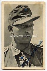 Heer - Originalunterschrift von Ritterkreuzträger Oberfeldwebel Wilhelm Bredemeier