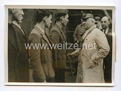 III. Reich Pressefoto. Reichsorganisationsleiter Dr. Ley bei den Lothringischen Arbeiten 10.12.1941