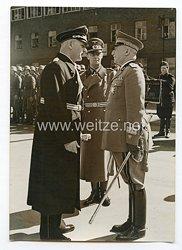 III. Reich Pressefoto. Deutscher Diplomat im Gespräch mit einem italienischen General