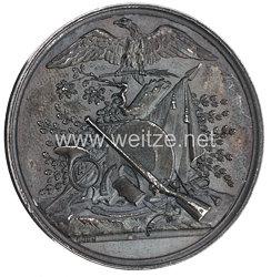 Mecklenburg-Strelitz Silberne Schützenkönig Medaille der Stadt Gransee für Georg Großherzog von Mecklenburg-Strelitz