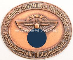 """NSFK - nichttragbare Teilnehmerplakette """" Nationalsozialistisches Fliegerkorps - Reichswettbewerb für Motorflugmodelle 1938 """""""