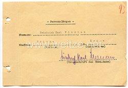 III. Reich - Originalunterschrift von dem Gauleiter von Düsseldorf Friedrich Karl Florian