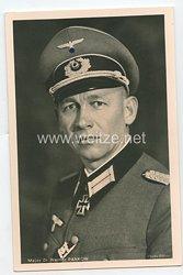 Heer - Portraitpostkarte von Ritterkreuzträger Major Dr. Werner Pankow