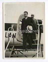 III. Reich Pressefoto. Eintreffen des neuen Botschafters der UdSSR in Berlin 2.9.1939