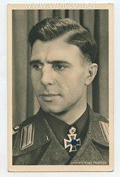Heer - Portraitpostkarte von Ritterkreuzträger Leutnant Hugo Primozic