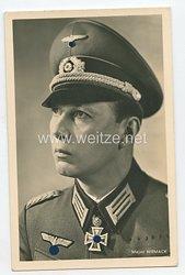 Heer - Portraitpostkarte von Ritterkreuzträger Major Niemack
