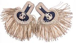 Kaiserliche Marine Paar Epauletten für einen Marine-Oberzahlmeister