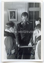 Luftwaffe - Originalunterschrift von Ritterkreuzträger Oberleutnant Sigmund-Ulrich Freiherr von Gravenreuth
