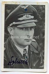 Luftwaffe - Originalunterschrift von Ritterkreuzträger Oberst Johann Schalk