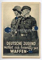 SS - Propaganda-Postkarte -