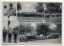 "III. Reich - Propaganda-Postkarte - "" NSKK Motorsturm 2/162 """