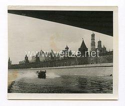 III. Reich Pressefoto, mit einem Boot durch eine russische Stadt