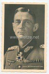 Heer - Portraitpostkarte von Ritterkreuzträger General der Gebirgstruppen Dietl
