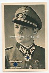 Heer - Portraitpostkarte von Ritterkreuzträger Leutnant Danzer