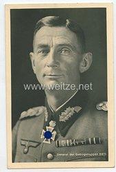 Heer - Portraitpostkarte von Ritterkreuzträger General der Gebirgstruppen Eduard Dietl