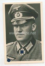 Heer - Portraitpostkarte von Ritterkreuzträger Oberleutnant Georg Einhoff