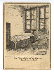 """III. Reich - Propaganda-Postkarte - """" Adolf Hitler - Die Hitler-Zelle auf der Festung Landsberg am Lech """""""